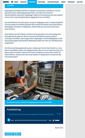 Aktuell: Das Unternehmen Nowitec aus Heppenbach bietet Komplettlösungen für Industrieelektrik und Automatisierung