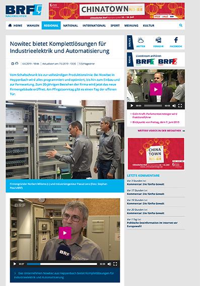 Nowitec bietet Komplettlösungen für Industrieelektrik une Automatisierung